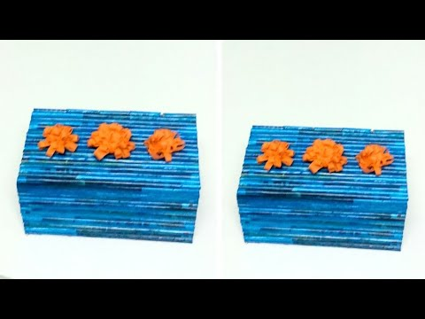How to make a jewellery box using magazine paper