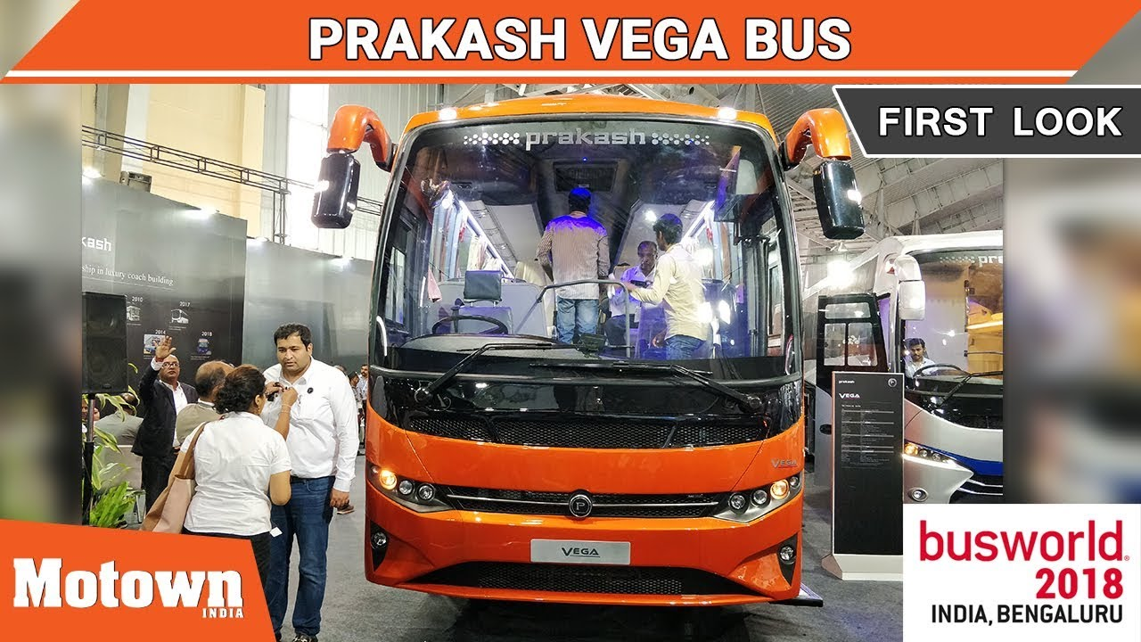 Prakash Vega First Look Busworld India 2018 Motown India Youtube