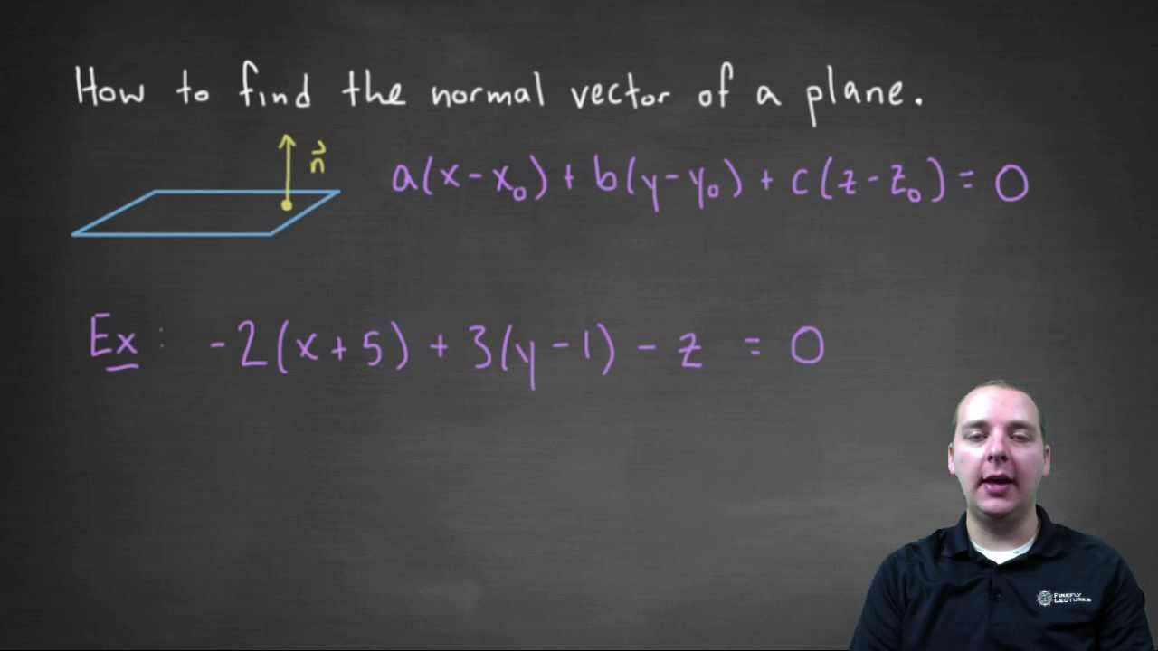 Normal Vector of a Plane - YouTube