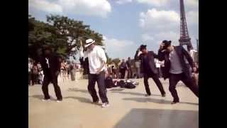 street dance in paris to michael jackson's songs/уличные танцы