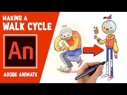 Making a Walk Cycle in Adobe Animate!