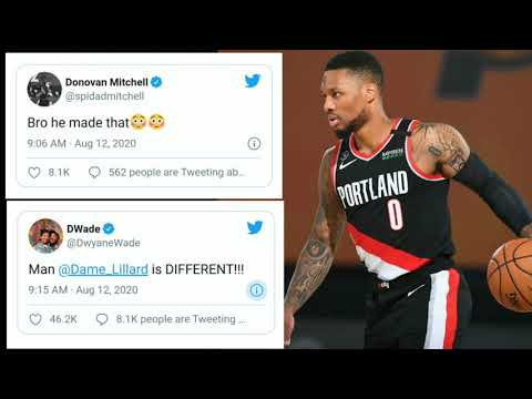 DAMIAN LILLARD TIES CAREER HIGH 61 PTS. VS. MAVERICKS | NBA PLAYERS REACTIONS ON TWITTER | 8/12/20