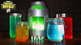 HOW TO MAKE FORTNITE ITEMS IN REAL LIFE! | DIY FORNITE POTIONS (SLURP POTION, CHUG JUG AND MORE!)