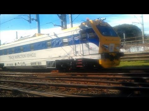 Sydney Trains/ NSW TrainLink Track Inspection Vehicle passes by
