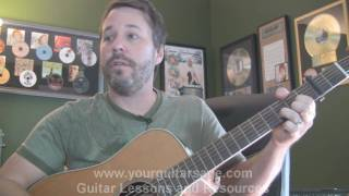 Guitar Lessons - Red Light by David Nail  - cover chords Beginners Acoustic songs