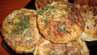 Фаршированные кабачки мясом в кляре.