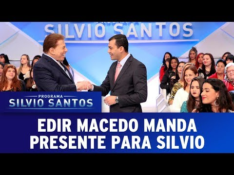 Edir Macedo manda presente para Silvio Santos | Programa Silvio Santos (09/07/17)