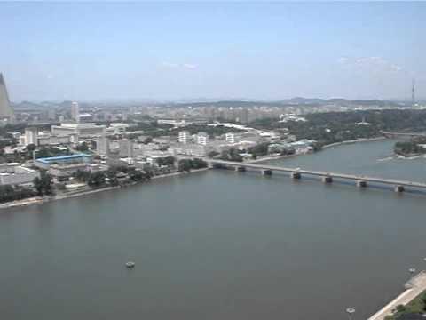 North Korea Pyongyang Panoramic View from Juche Tower.mpg