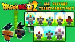 Tous les packs Saiyan Transformation's Comprend DLC (fr) Roblox: Dragon Ball Super 2