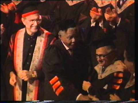 President Nelson Mandela receives an Honorary Doctorate from Ben-Gurion University of the Negev