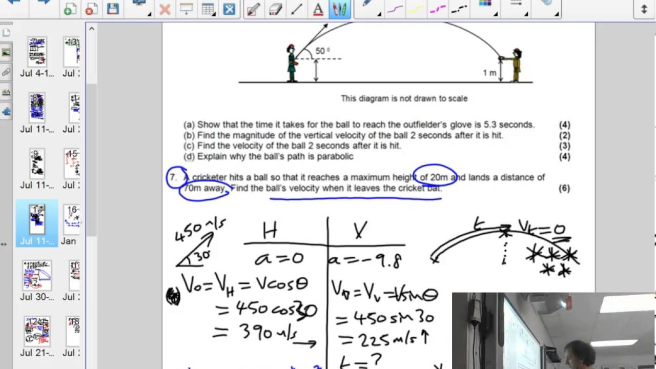 projectiles worksheet worked answers for a launch angle youtube. Black Bedroom Furniture Sets. Home Design Ideas