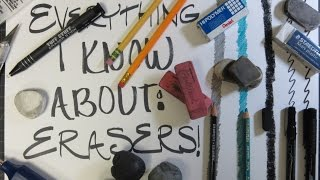 Art How to/ Tutorial - Everything I know about Erasers