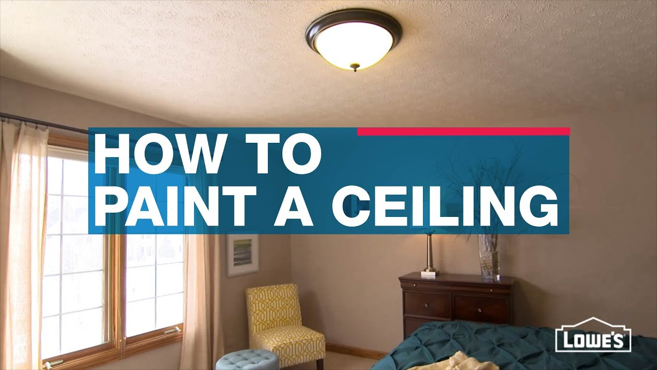 How to Paint a Ceiling - YouTube