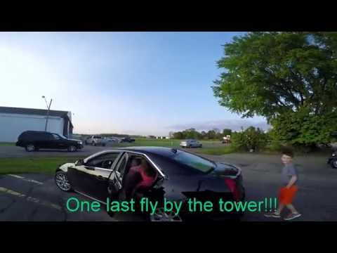 Chinook Lands and Does Fly By at Myers Divers Airport Tecumseh Michigan Summer 2016