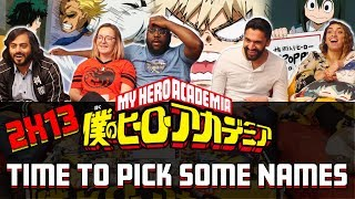 My Hero Academia - 2x13 Time to Pick Some Names - Group Reaction
