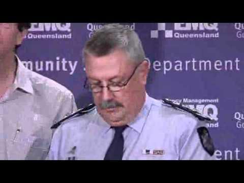 Media Conference - Queensland Police flood briefing, Saturday Jan 1, part 1