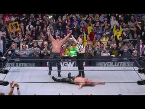 AEW REVOLUTION 2020 JON MOXLEY vs. CHRIS JERICHO - AEW World Heavyweight Championship Match
