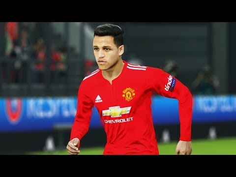 Man United vs Man City (Sanchez Scored 2 Goals) UCL 2018 Gameplay