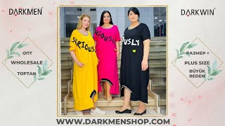 1 06 2021 часть 1 Показ женской одежды больших размеров DARKWIN от DARKMEN Турция Стамбул Опт