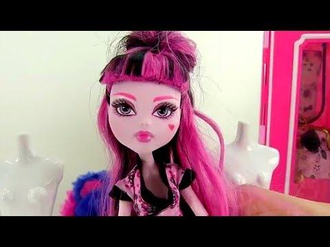 Куклы #МонстерХАЙ 👗Новый Стилист Дракулауры! Видео игрушки Школа Монстров Игры #длядевочек одевалки