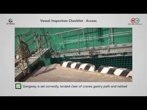 DP World Vessel Inspection Checklist Video