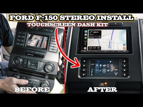 Ford F-150 Car Stereo Installation - Metra 99-5834CH And Sony XAV-AX5000
