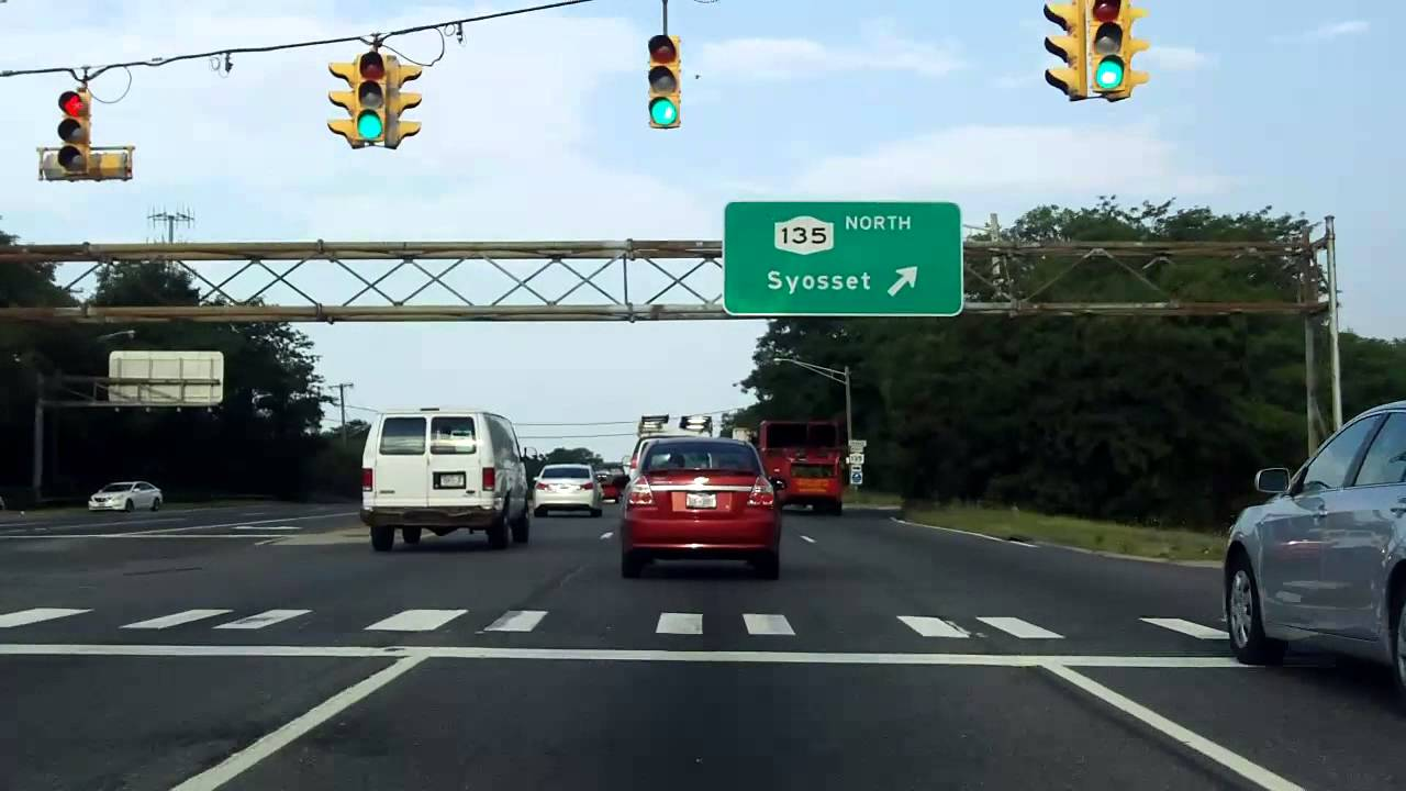 Sunrise Highway (NY 27 from Massapequa to Bellmore) westbound