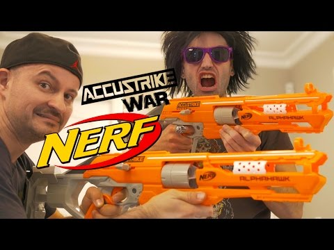 NERF WAR: Nerf AccuStrike GUNS!