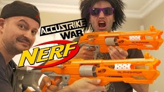 NERF WAR: Nerf AccuStrike GUNS!