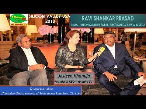 Ravi Shankar Prasad USA Visit  Fireside Chat /Live With Indian Digital/ IT Minister  BJP- Modi Govt.