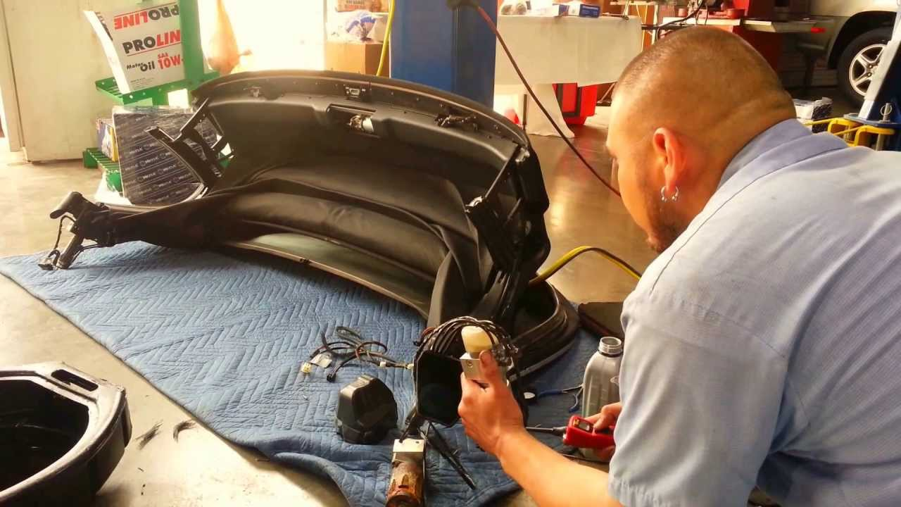 Bmw Z4 Convertible Top Motor Replacement Youtube