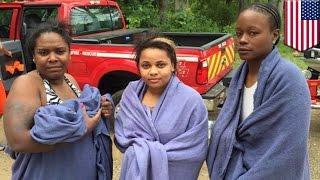 米・ミシガン州のマスケゴン川で、女性3人が6時間も流されたが、無事救...