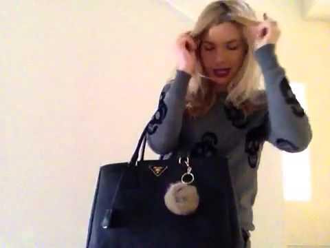 86bf9af1f5b3 Prada saffiano lux tote black - YouTube