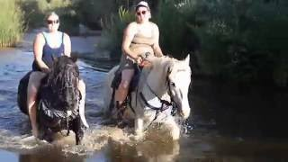 Riverbed FUN on horses!!