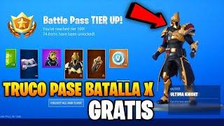 NEW FREE SEASON PASS X FORTNITE BATTLE ROYALE - BATTLE PASS 10 FREE