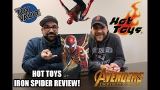 Marvel Infinity War Hot Toys Iron Spider Review! Spiderman! The Toy Vault!