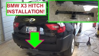 BMW X3 E83 Trailer Hitch Installation. How to install Trailer Hitch Receiver BMW X3