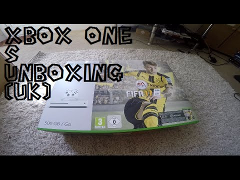 Xbox One S Unboxing UK With Fifa 17