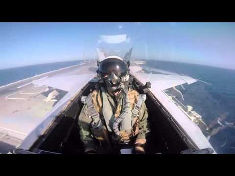 F-18 squadron comes up with jaw-dropping footage during US cruise