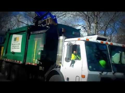 City of Newton - Waste Management Mack LEU Heil Durapack Python 103487 on trash