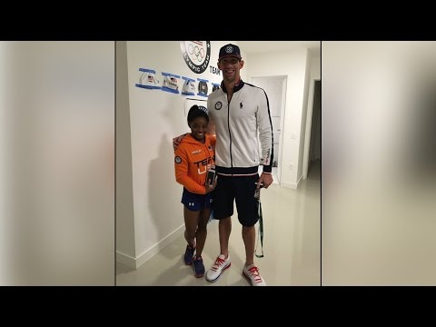 Michael Phelps & Simone Biles show off their massive height difference | Oneindia News