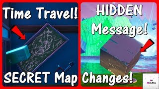 *NEW* SECRET Map Changes! (Kevin The Cube Hidden Message, Time Traveling) | Fortnite Season 10