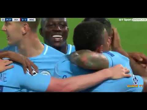 Manchester city vs Feyenorod 4 –0  Highlights and   All Goals — 13 /09/  2017  HD.