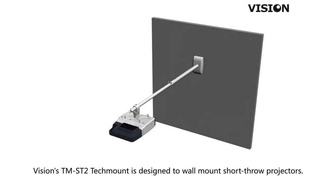vision techmount tmst2 shortthrow projector wall mount en - Projector Wall Mount