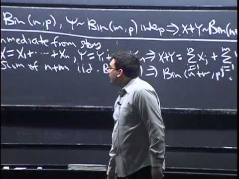 Lecture 8: Random Variables and Their Distributions   Statistics 110
