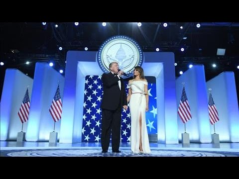 Trump Addresses Crowd at Inaugural Ball