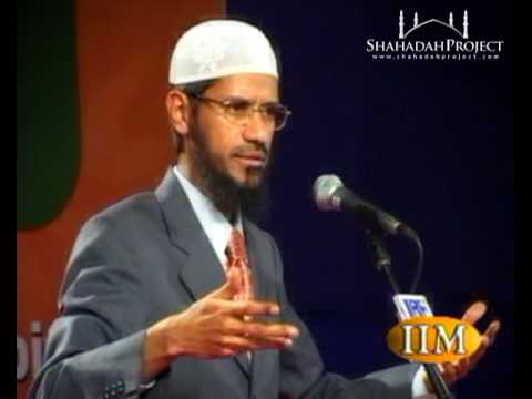 Dr. Zakir Naik - Main sources of guidance in Sharia (Islamic Law)
