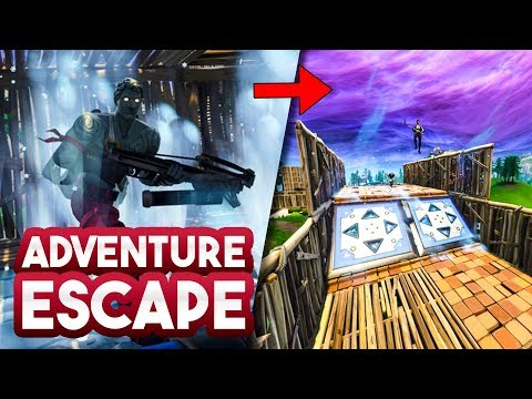 ADVENTURE ESCAPE met KIJKER v5!! - Fortnite Playground (Nederlands)