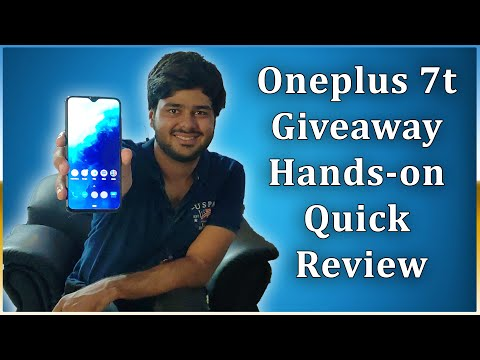 OnePlus 7T Giveaway And Hands-on And Quick Review