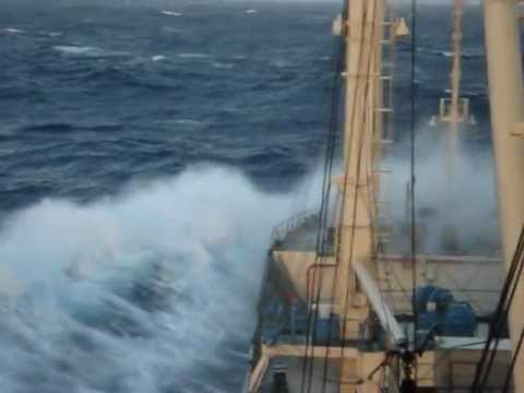 Indian Ocean.Ship in storm.wmv
